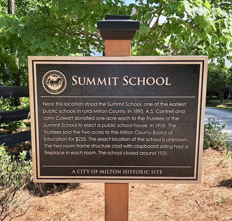 Summit School Marker image. Click for full size.