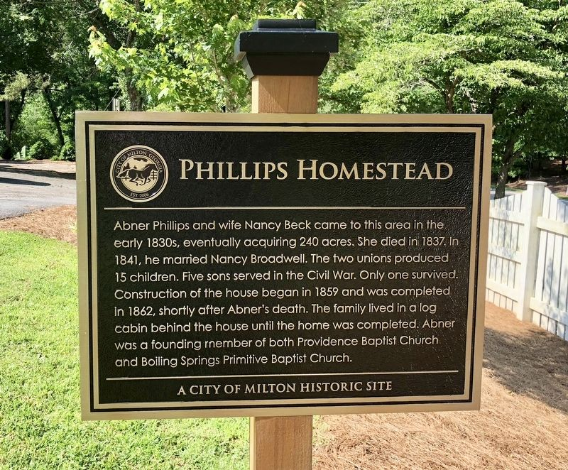 Phillips Homestead Marker image. Click for full size.