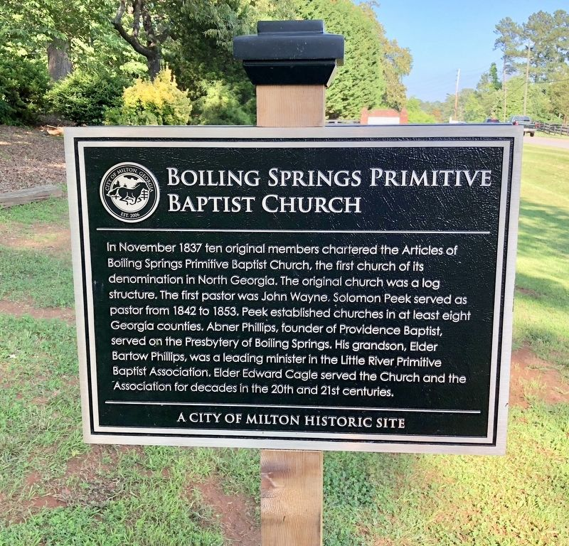 Boiling Springs Primitive Baptist Church Marker image. Click for full size.