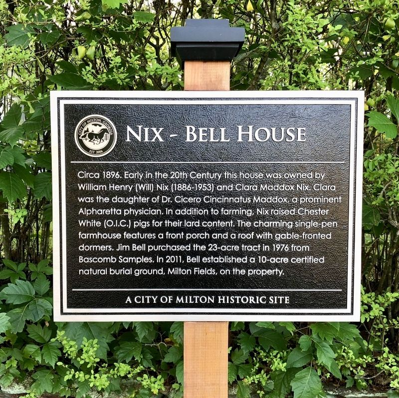 Nix - Bell House Marker image. Click for full size.