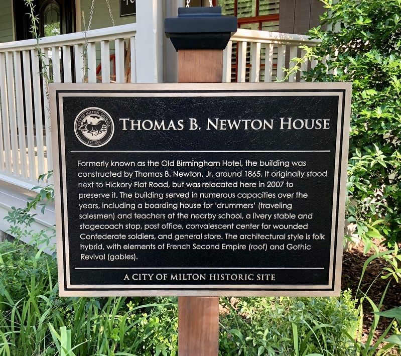 Thomas B. Newton House Marker image. Click for full size.