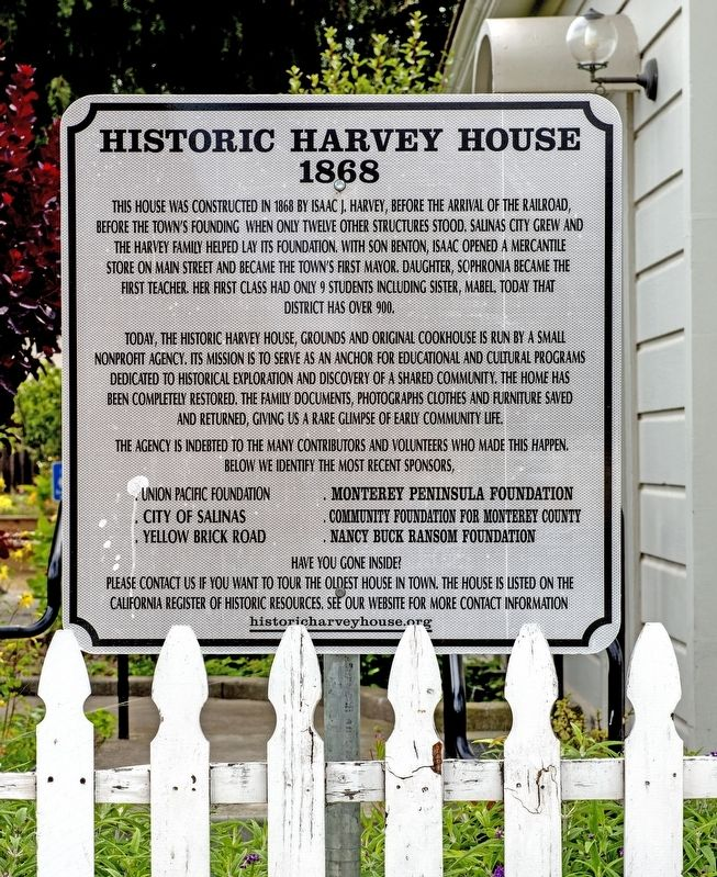 Historic Harvey House Marker image. Click for full size.