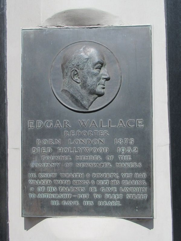 Edgar Wallace Marker image. Click for full size.