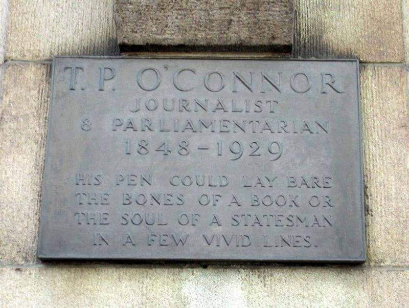 T.P. O'Connor Marker image. Click for full size.