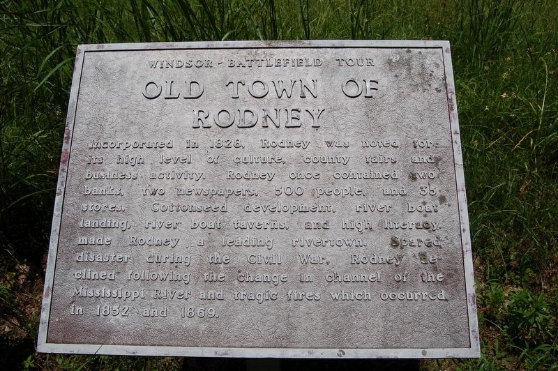 Old Town of Rodney Marker image. Click for full size.