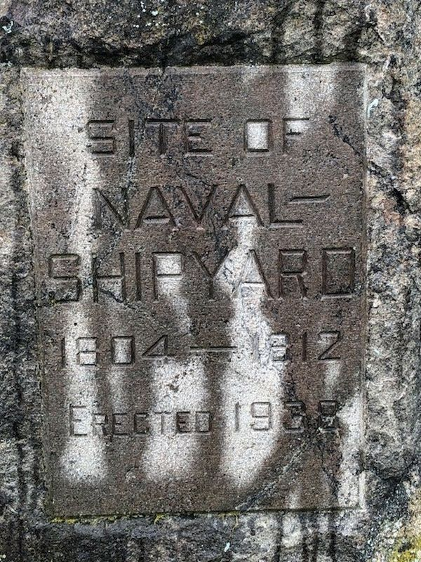Site of Naval shipyard Marker image. Click for full size.