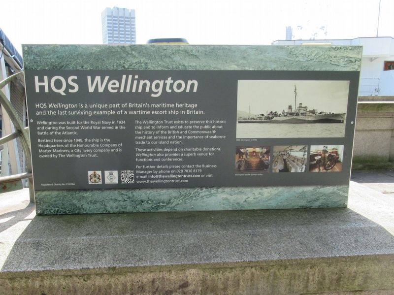 HQS Wellington Marker image. Click for full size.
