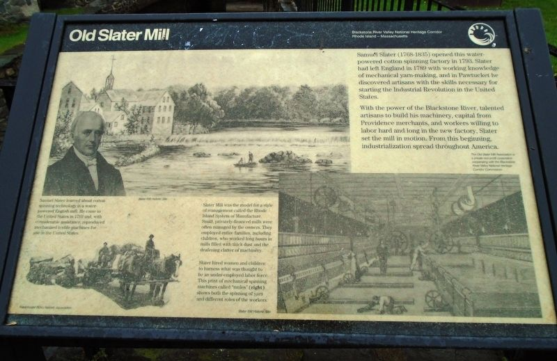 Old Slater Mill Marker image. Click for full size.