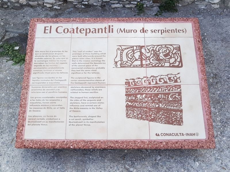 El Coatepantli (Wall of Snakes) Marker image. Click for full size.