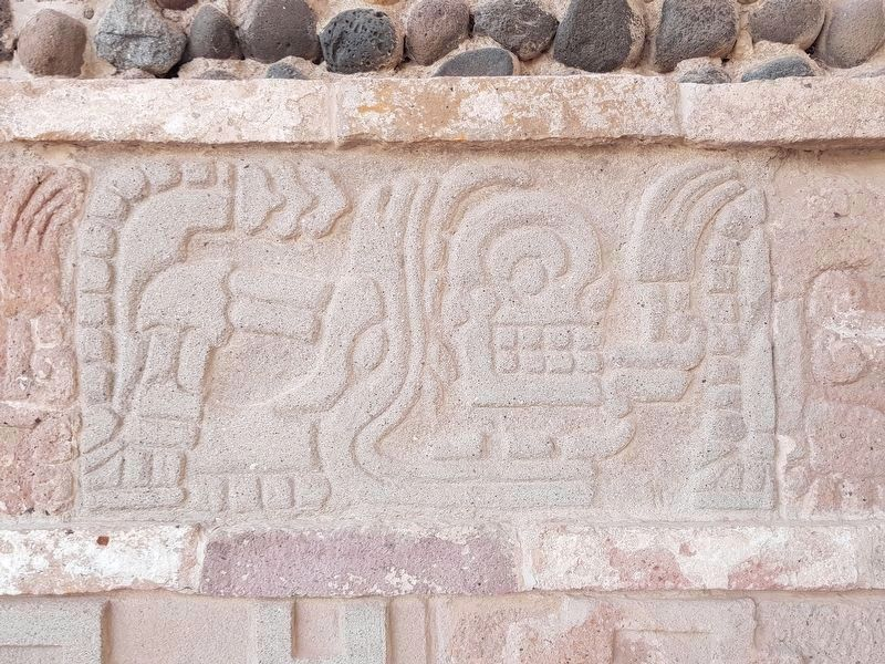 Detail of the Coatepantli (Wall of Snakes) image. Click for full size.