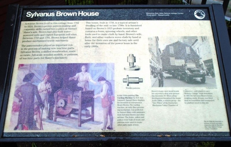 Sylvanus Brown House Marker image. Click for full size.