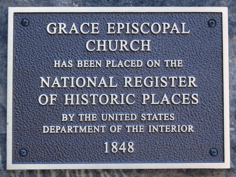 Grace Episcopal Church NRHP Marker image. Click for full size.