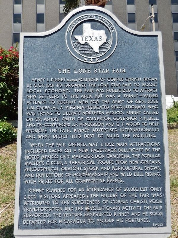 The Lone Star Fair Marker image. Click for full size.