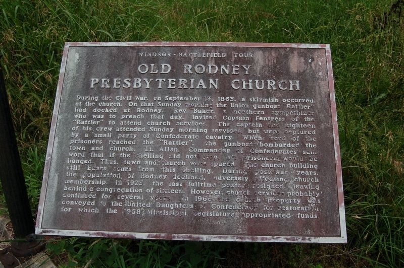 Old Rodney Presbyterian Church Marker image. Click for full size.