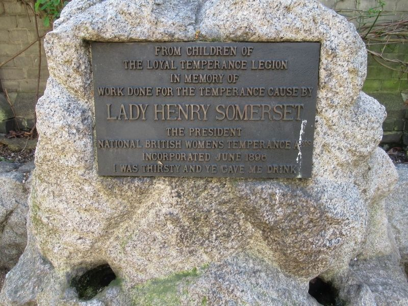 Lady Henry Somerset Memorial image. Click for full size.