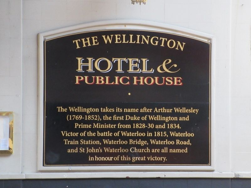 The Wellington Hotel & Public House Marker image. Click for full size.