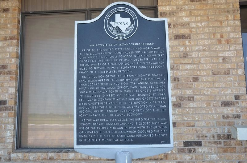 Air Activities of Texas Corsicana Field Marker image. Click for full size.