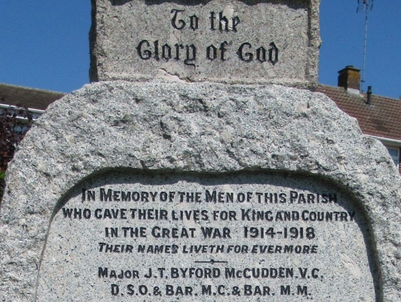 Gillingham World War I Memorial image. Click for full size.