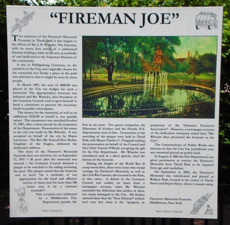 """Fireman Joe"" Marker image. Click for full size."