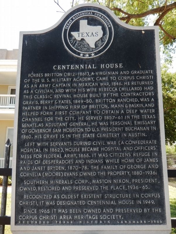 Centennial House Marker image. Click for full size.