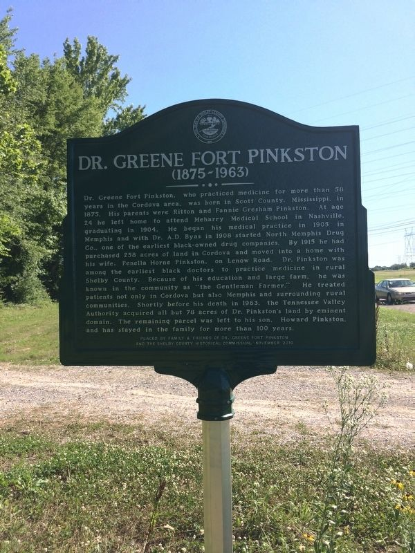 Dr. Greene Fort Pinkston Marker image. Click for full size.