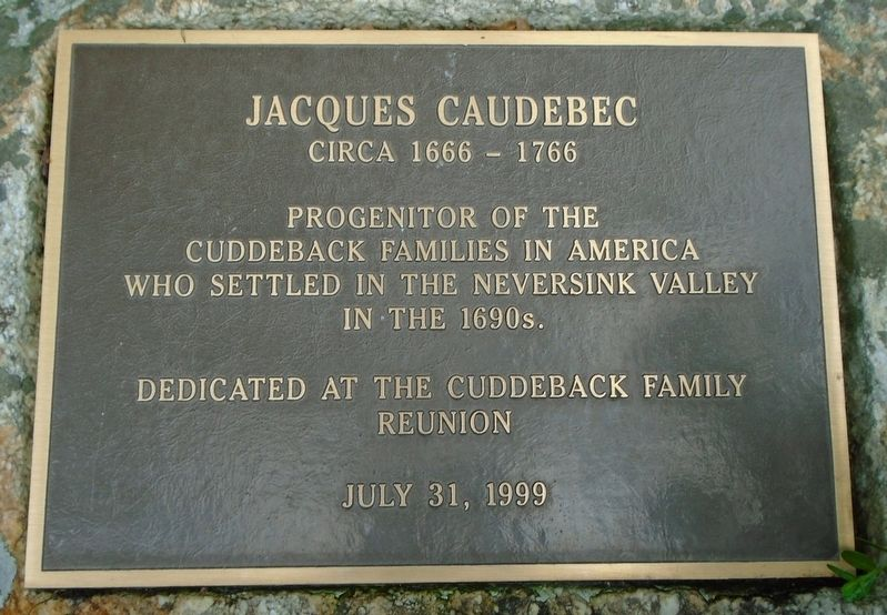 Jacques Caudebec Marker image. Click for full size.