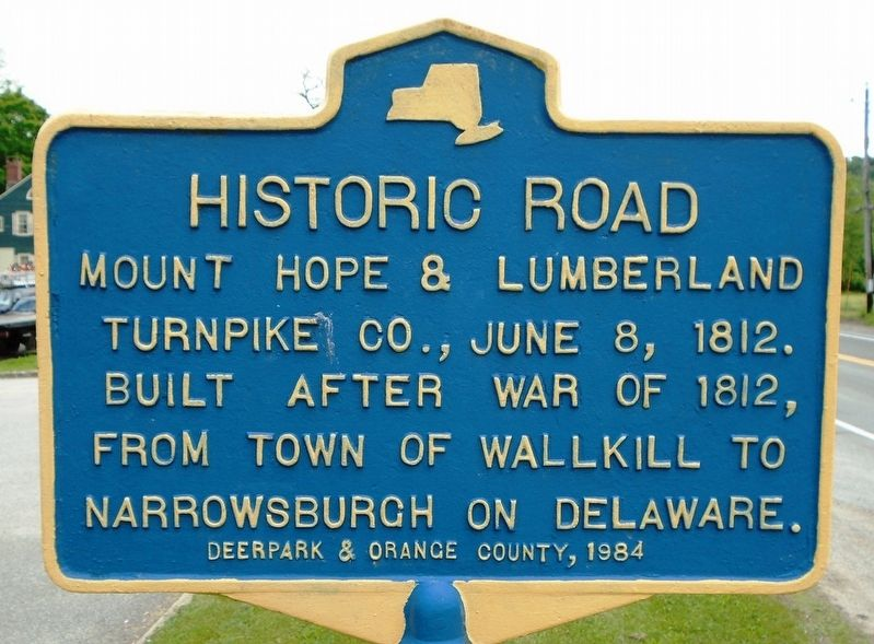 Historic Road Marker image. Click for full size.