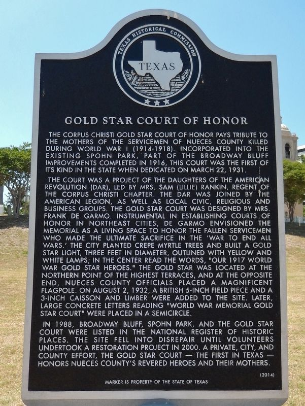 Gold Star Court of Honor Marker image. Click for full size.