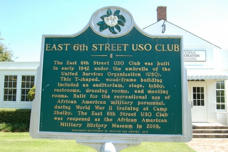 East 6th Street USO Club Marker image. Click for full size.