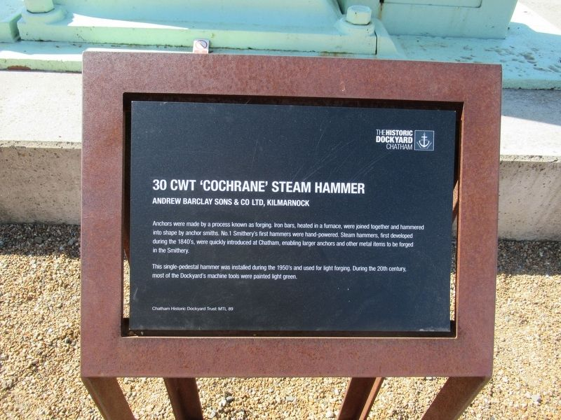 30 CWT 'Cochrane' Steam Hammer Marker image. Click for full size.