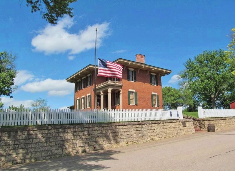 Ulysses S. Grant Home and Marker image. Click for full size.