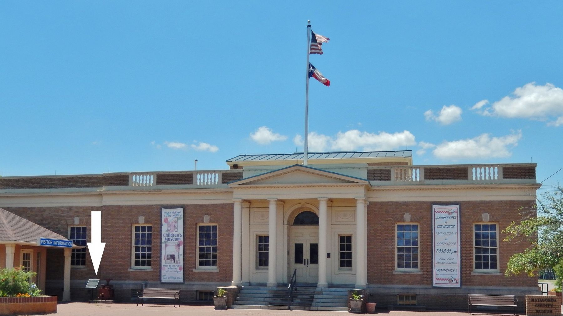 Matagorda County Musuem (former U.S. Post Office) (<i>marker visible at left</i>) image. Click for full size.