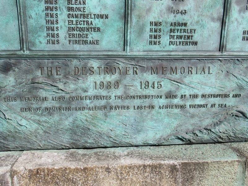 The Destroyer Memorial - Detail image. Click for full size.