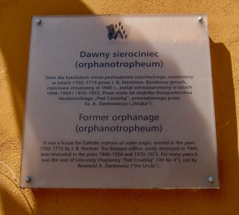 Dawny Sierociniec / Former Orphanage (Orphanotropheum) Marker image. Click for full size.