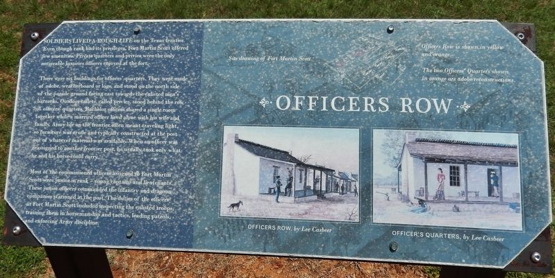 Officers Row Marker image. Click for full size.