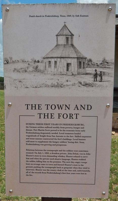 The Town and the Fort Marker image. Click for full size.