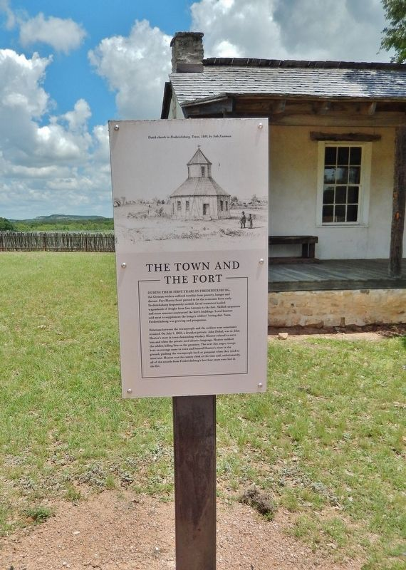 The Town and the Fort Marker (<i>tall view</i>) image. Click for full size.