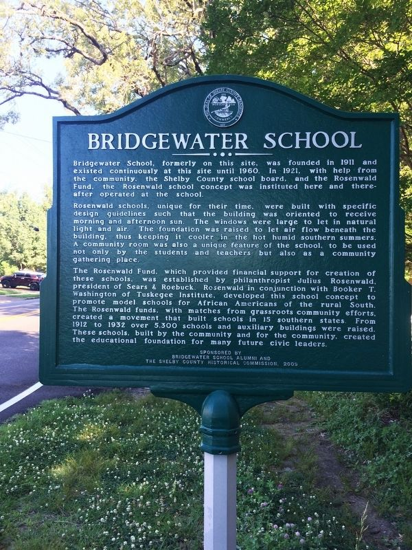 Bridgewater School Marker image. Click for full size.