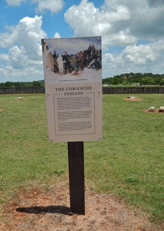 The Comanche Indians Marker (<i>tall view</i>) image. Click for full size.