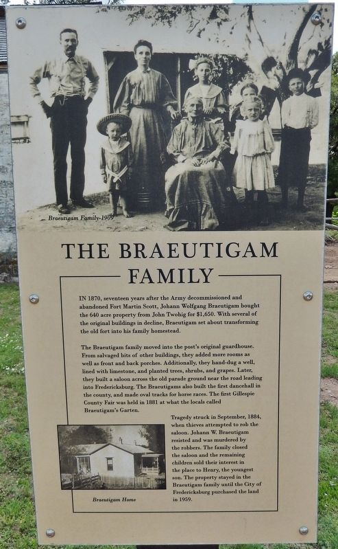 The Braeutigam Family Marker image. Click for full size.