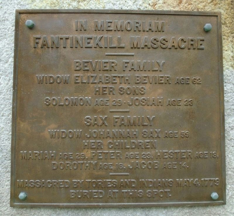 Fantinekill Massacre Memorial Marker image. Click for full size.