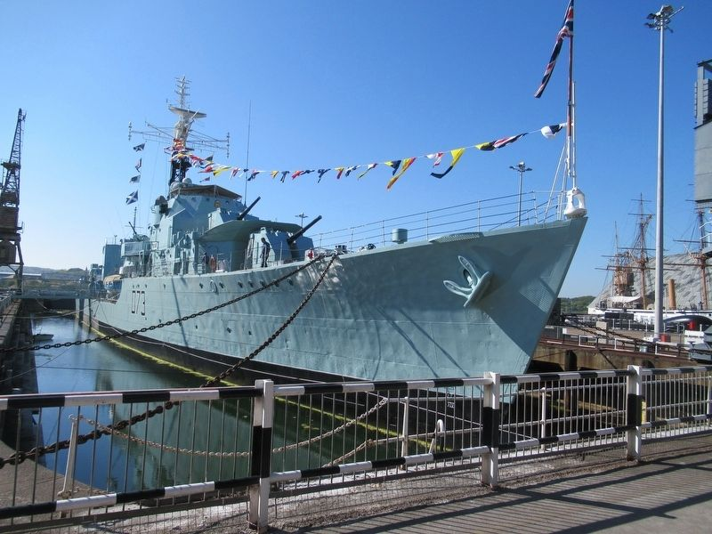 HMS Cavalier in No. 2 Dry Dock image. Click for full size.