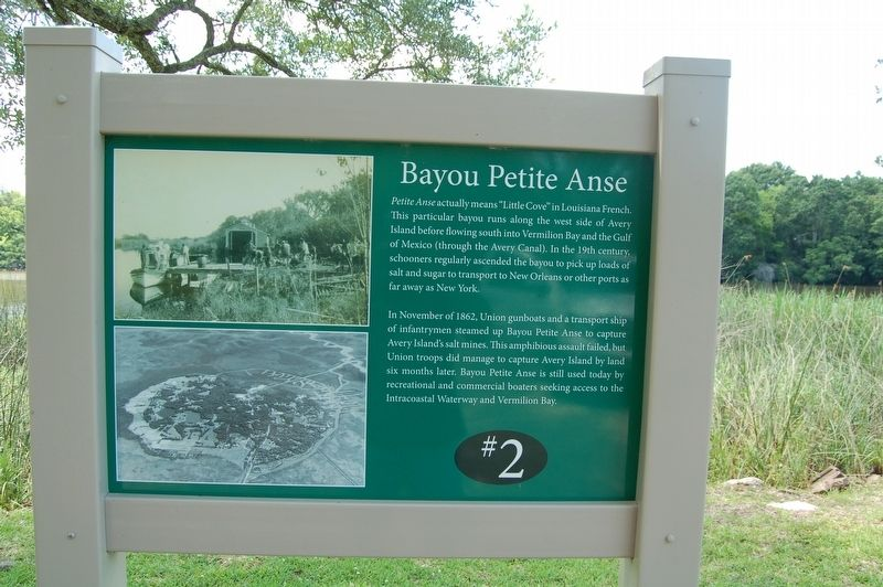 Bayou Petite Anse Marker image. Click for full size.