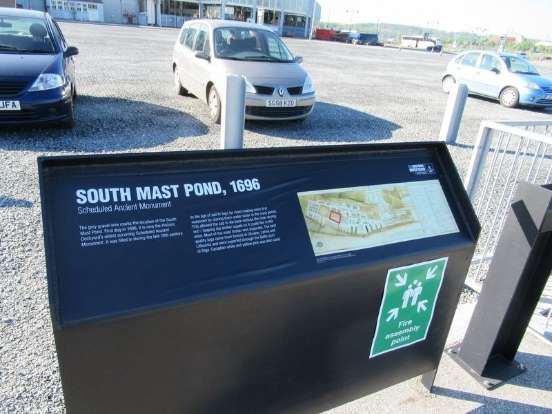South Mast Pond, 1696 Marker image. Click for full size.