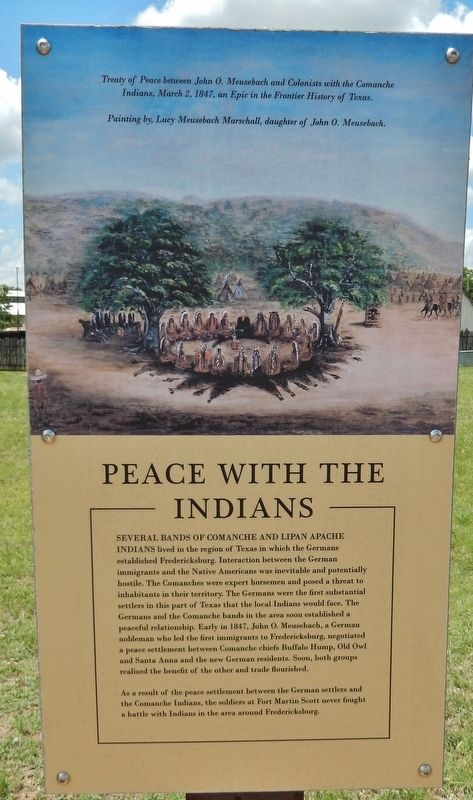 Peace with the Indians Marker image. Click for full size.