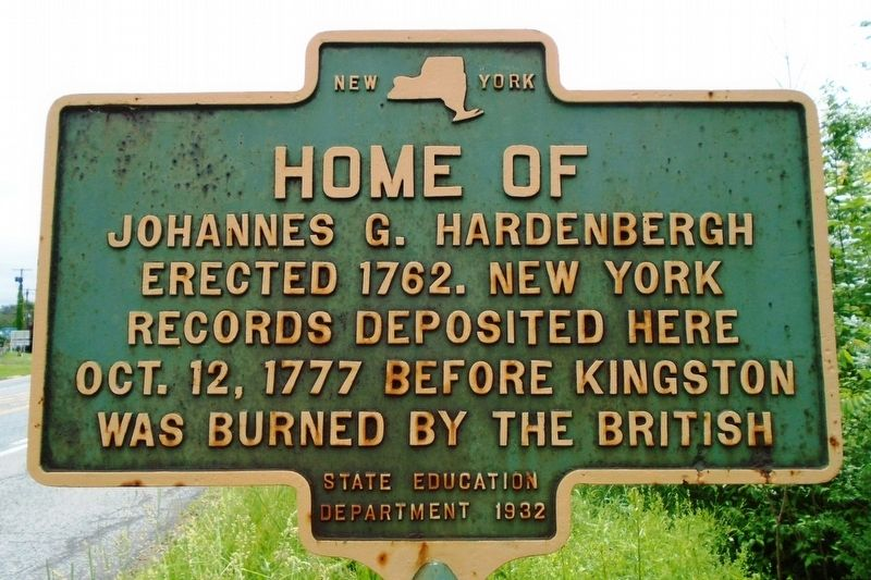 Home of Johannes G. Hardenbergh Marker image. Click for full size.
