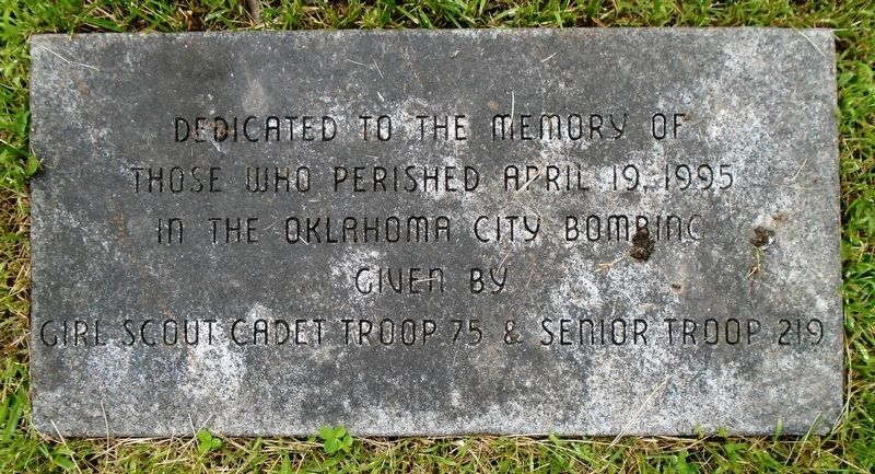 Oklahoma City Bombing Memorial Marker image. Click for full size.