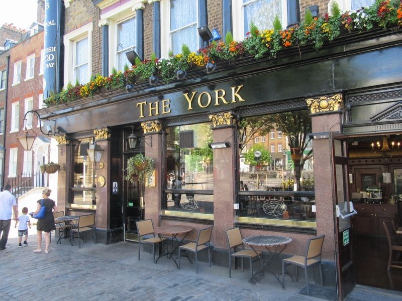 William Nicholson Marker on The York Pub image. Click for full size.