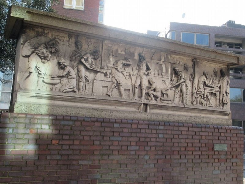 Frieze from W. Bryer & Sons Gold Refiners image. Click for full size.
