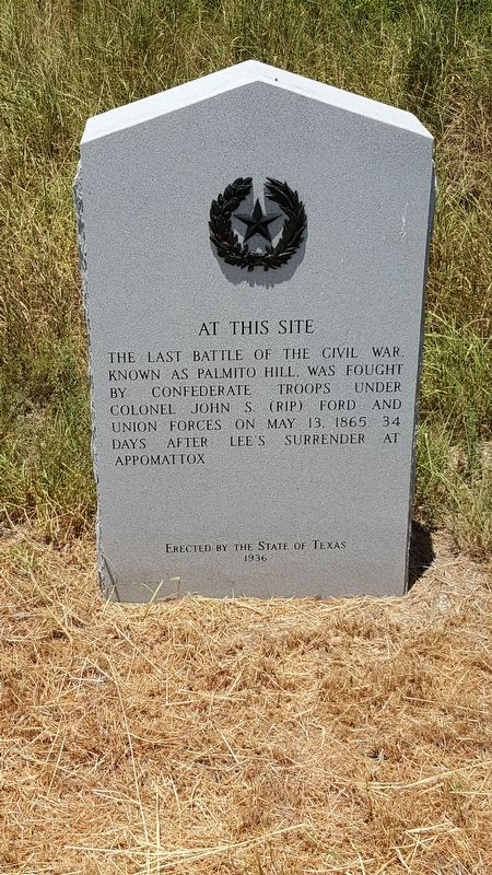 Last Battle of the Civil War Marker image. Click for full size.